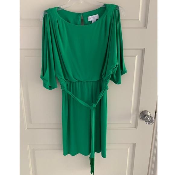 Jessica Simpson green tie waist dress